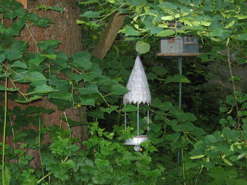Nichoirs oiseaux dans le jardin l'été