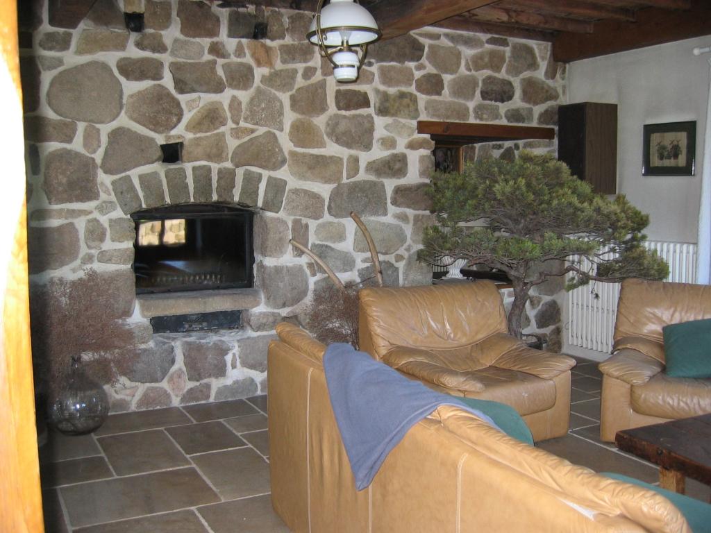 le salon de ma maison de campagne la chemine double face avec insert se niche